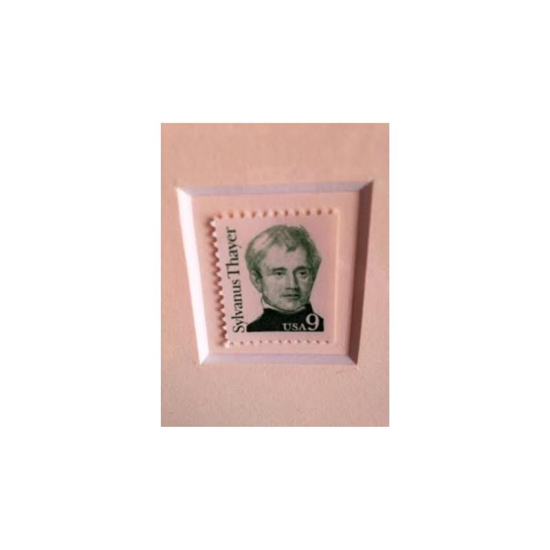Sylvanus Thayer Matted Stamp