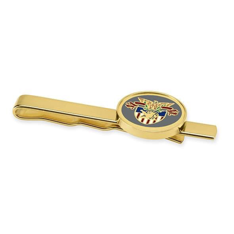 West Point Enamel Tie Clip  with Crest (Special Order)