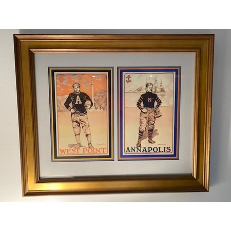 Football at West Point: West Point & Annapolis (Framed Print, 16 x 20)