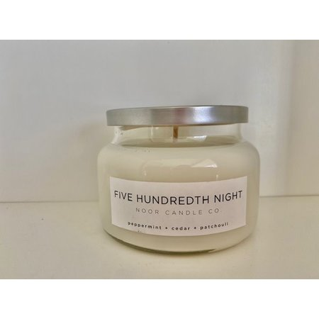 "Noor Candle Company ""Five Hundredth Night"" Hand-Poured Soy Candle, 10 Ounce (Peppermint, Cedar, Patchouli)"