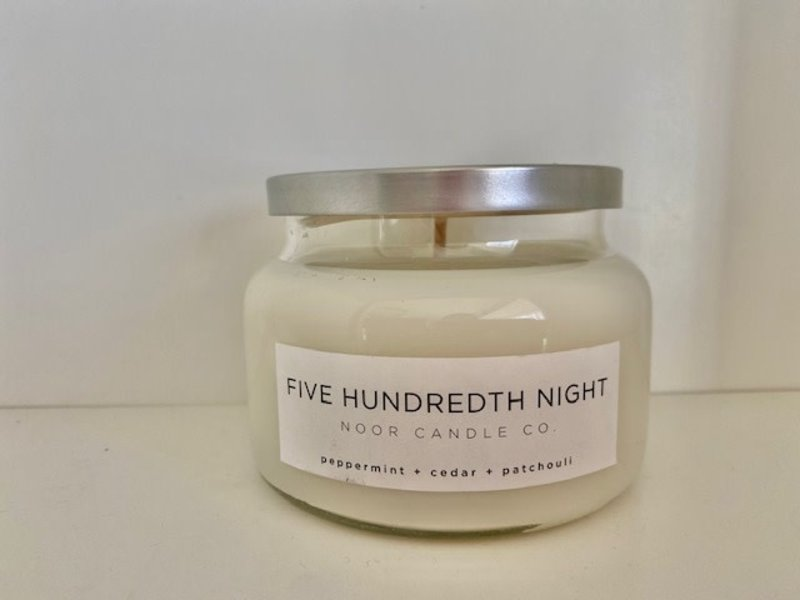 """Noor Candle Company """"Five Hundredth Night"""" Hand-Poured Soy Candle, 10 Ounce (Peppermint, Cedar, Patchouli)"""
