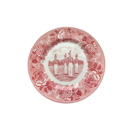 """Duty, Honor, Country"" China Dinner Plate in Rose"