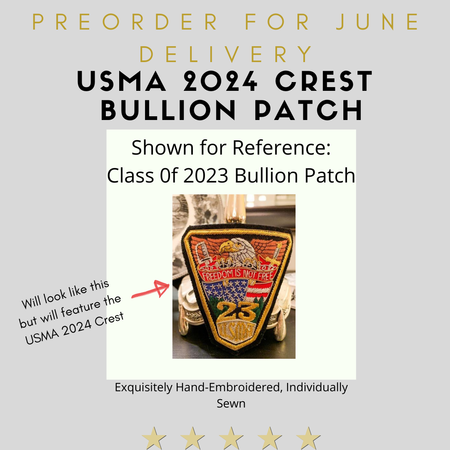 West Point Class of 2024 Crest Bullion Patch (Preorder)