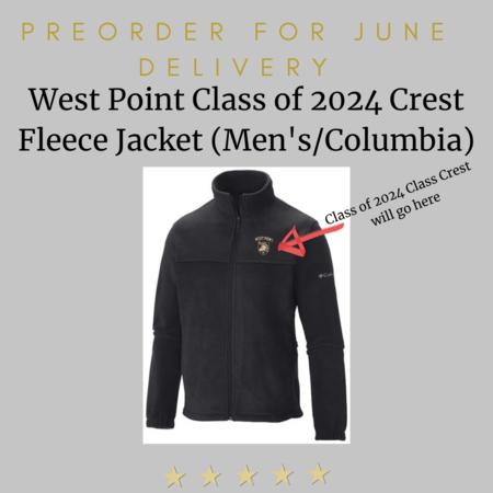 Columbia West Point Class of 2024 Crest Columbia Men's Full Zip Fleece (Preorder)