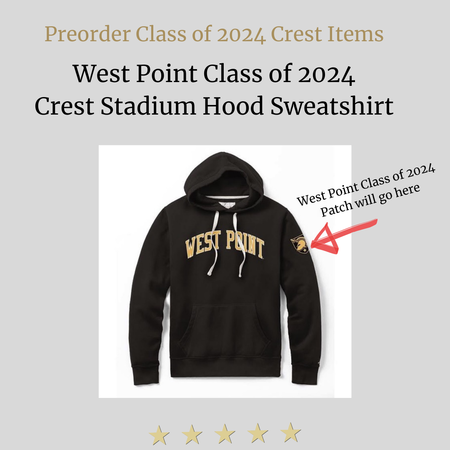 League West Point Class of 2024 Crest Stadium Hood Sweatshirt (Preorder)