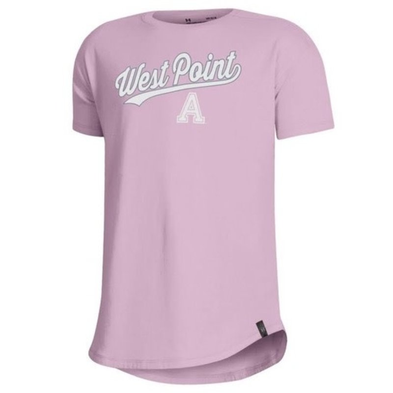 Under Armour West Point Pink Youth Performance Cotton SS Tee