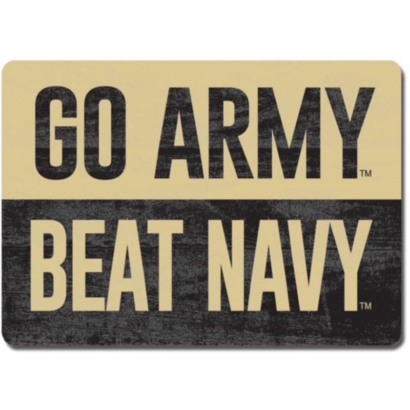 League Go Army/Beat Navy Rectangular Wood Magnet