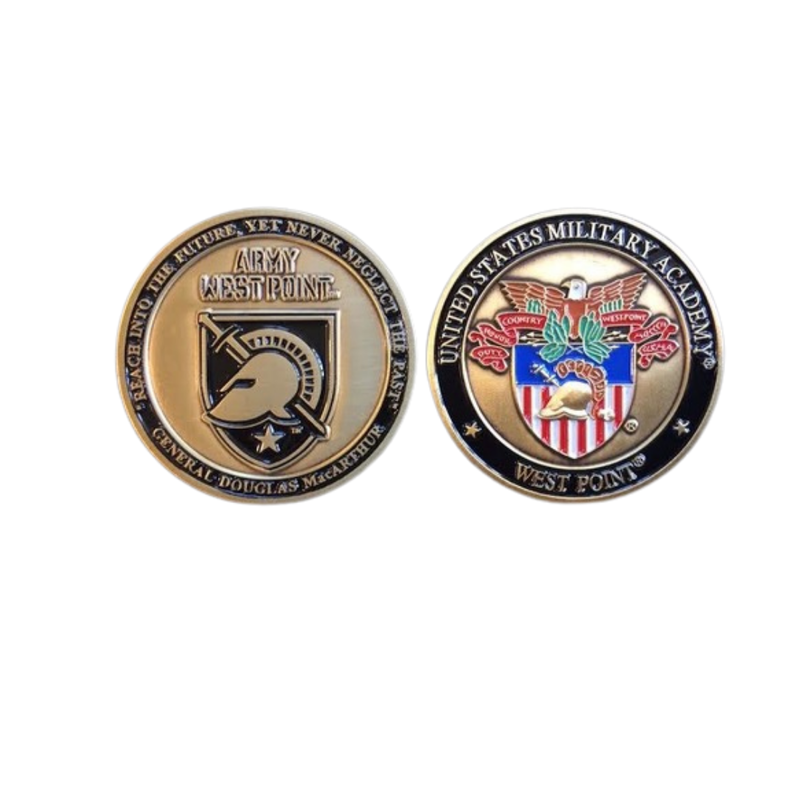 USMA Athletic Shield Challenge Coin