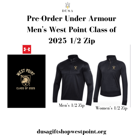 Under Armour West Point Class of 2025 1/2 Zip for Men (Preorder)