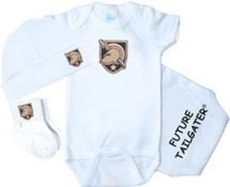 Future Tailgaters Army Black Knights Baby Three Piece Set