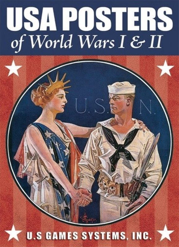 USA Posters of WWI and WWII Poker Deck