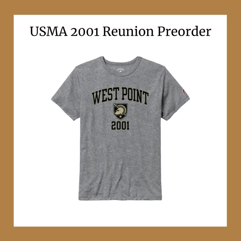 League Reunion Preorder: West Point 2001 Tee-Shirt