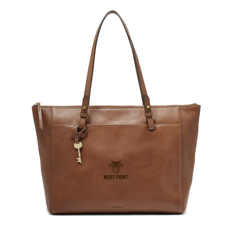 Fossil West Point Leather Tote, Brown