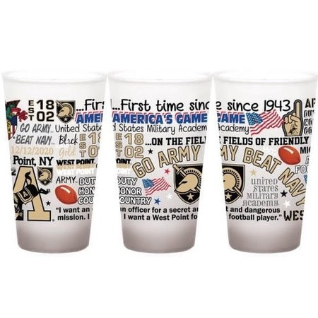 Go Army Beat Navy Frosted Pint Glass (16 ounce)