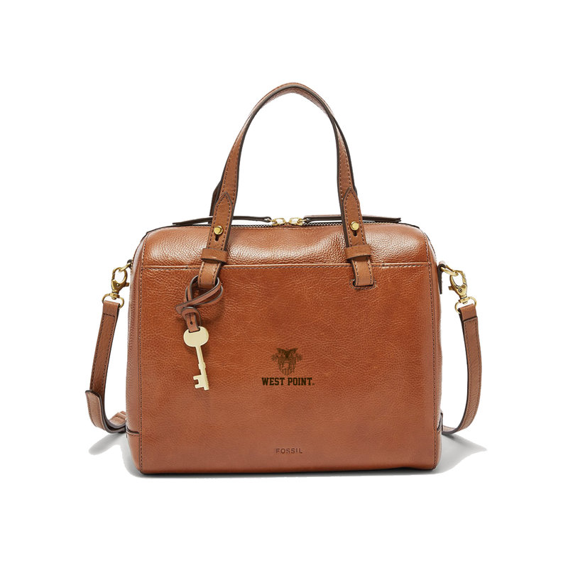 Fossil West Point Satchel, Brown