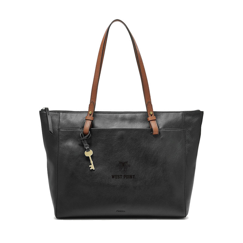 Fossil West Point Leather Tote, Black