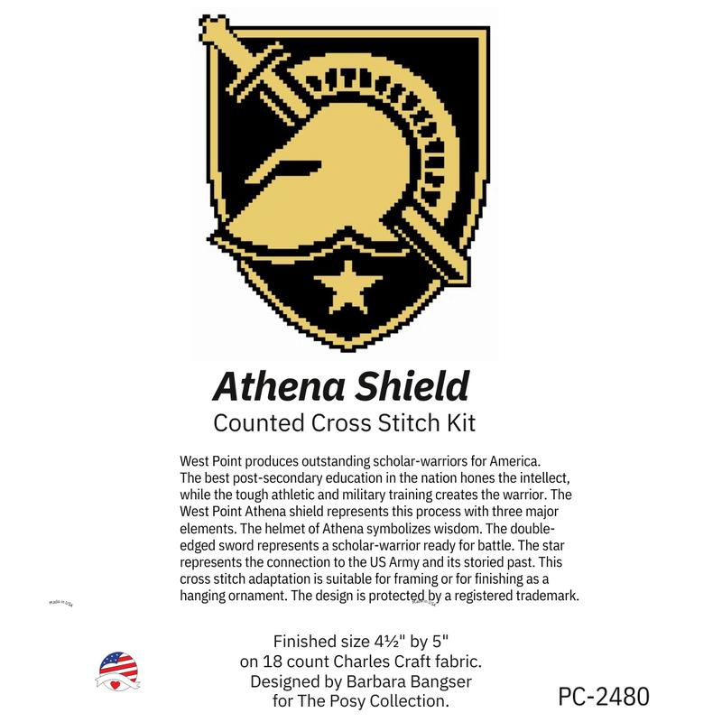 Athena Shield Cross Stitch Kit