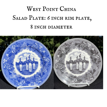 """China Salad Plate, """"Duty, Honor, Country"""""""