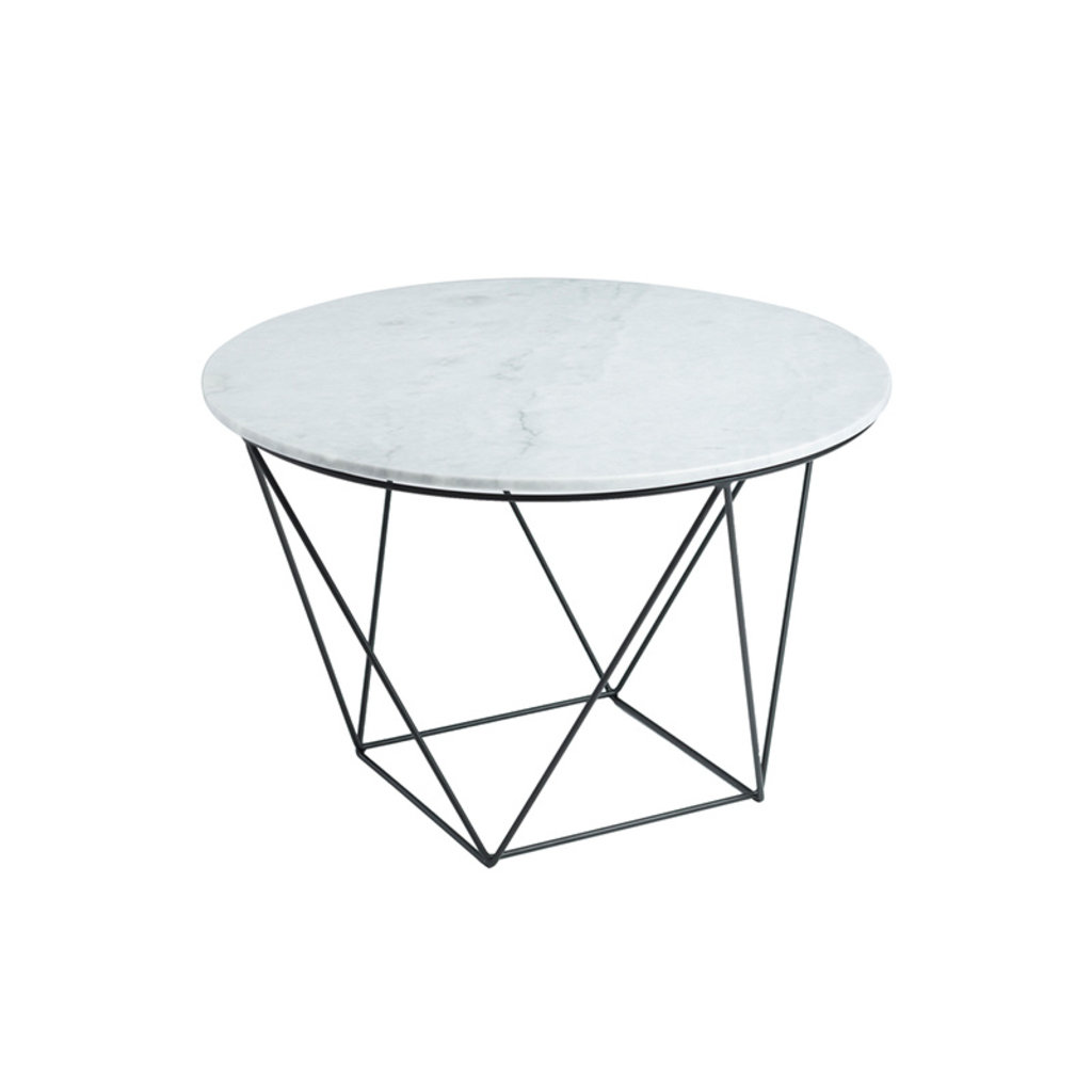 AMADA SIDE TABLE ROUND MARBLE WHITE
