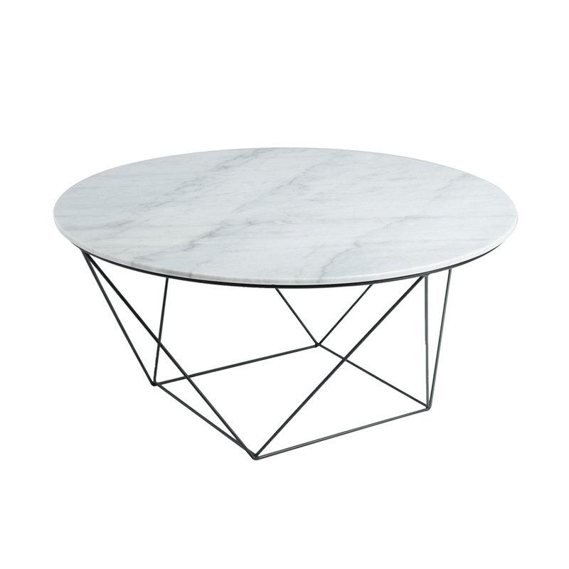 AMADA COFFEE TABLE ROUND MARBLE WHITE