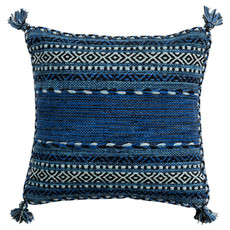 """TRENZA PILLOW DOWN FILLED 22"""" BLUE"""
