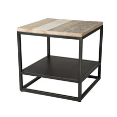 HENDRIX SIDE TABLE BLACK GREY NATURAL