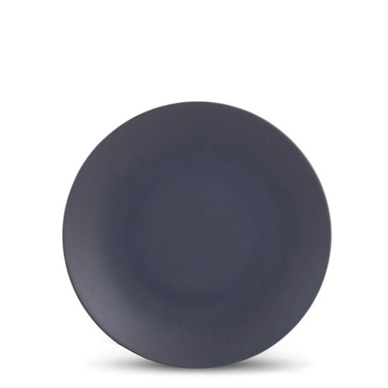 "GRANITO SALAD PLATE 8.25"" STONEWEAR BLACK"