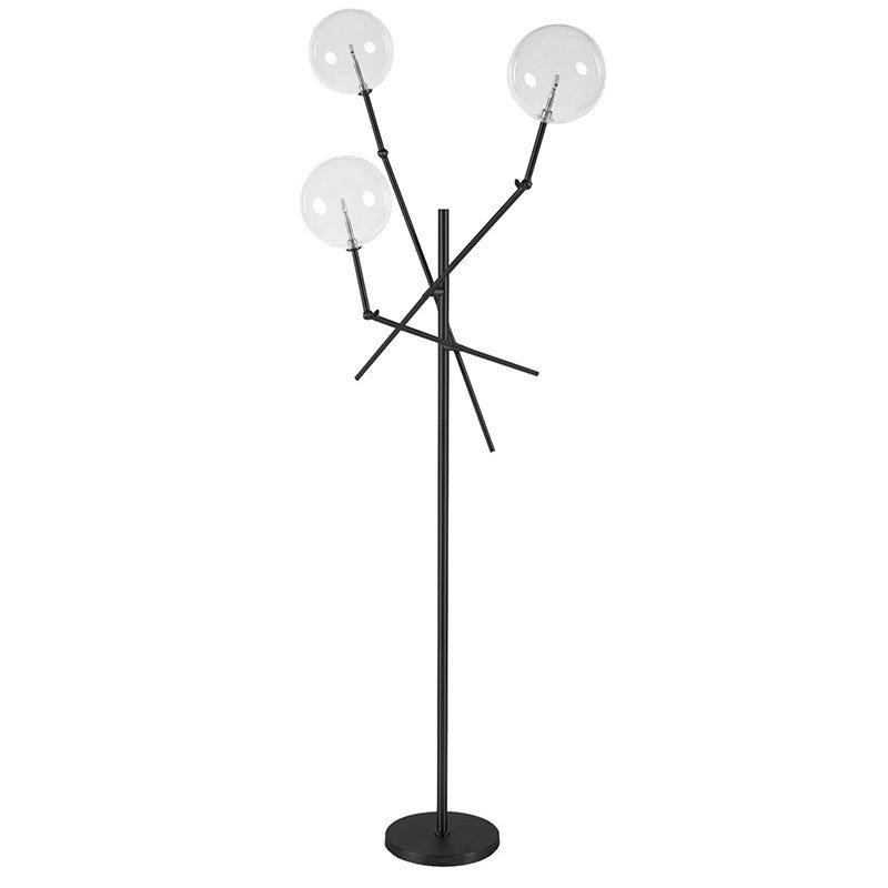 ASTRIX 3 GLOBE FLOOR LAMP BLACK