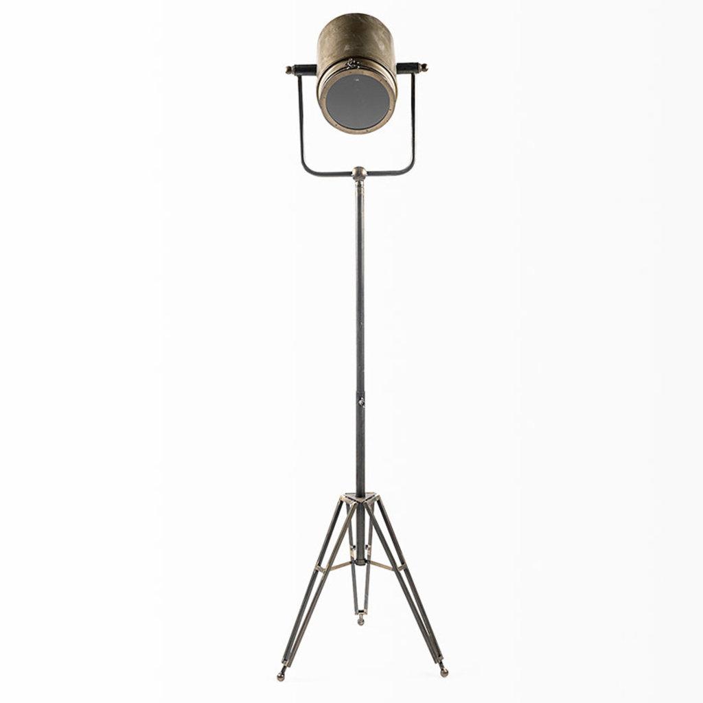 HOLLYWOOD FLOOR LAMP BURNISHED METAL