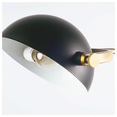 HELMSLEY FLOOR LAMP BLACK AND BRASS