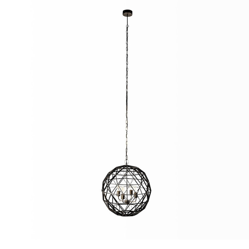 EXPO PENDANT LAMP METAL BLACK AND BROWN