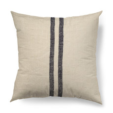 """SANDRA 2 STRIPE PILLOW DOWN FILLED 18"""" BLUE AND SAND"""