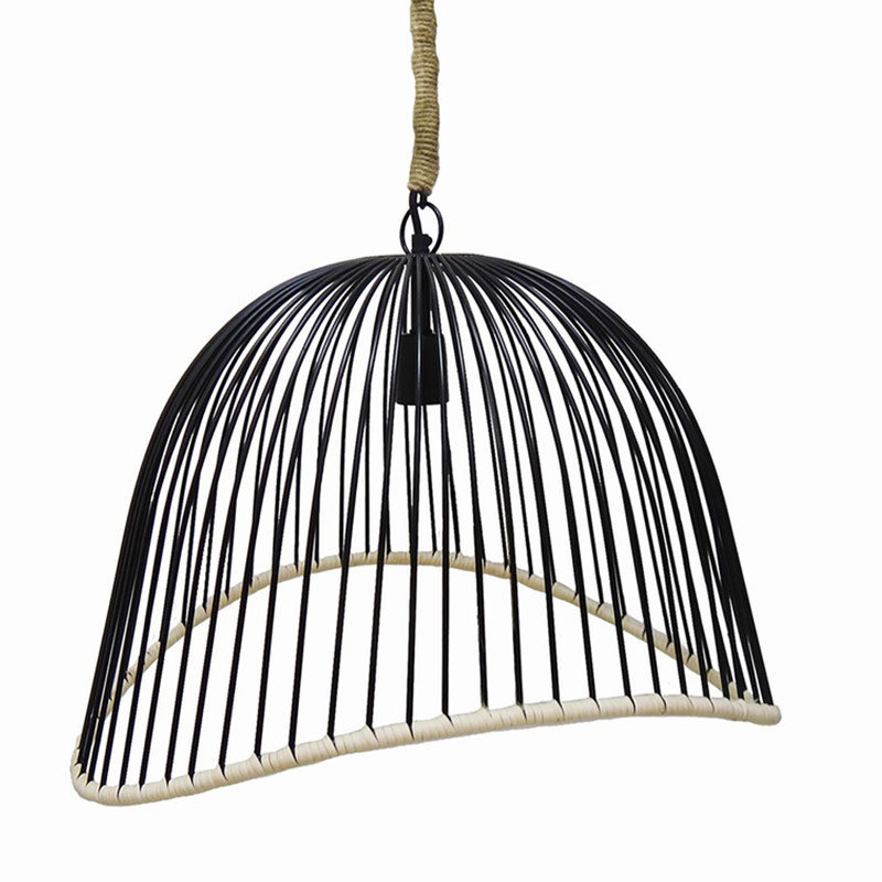 ROPE AND CAGE PENDANT LAMP