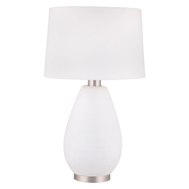 CLASSIQUE TABLE LAMP PORCELAIN WHITE STAINLESS STEEL