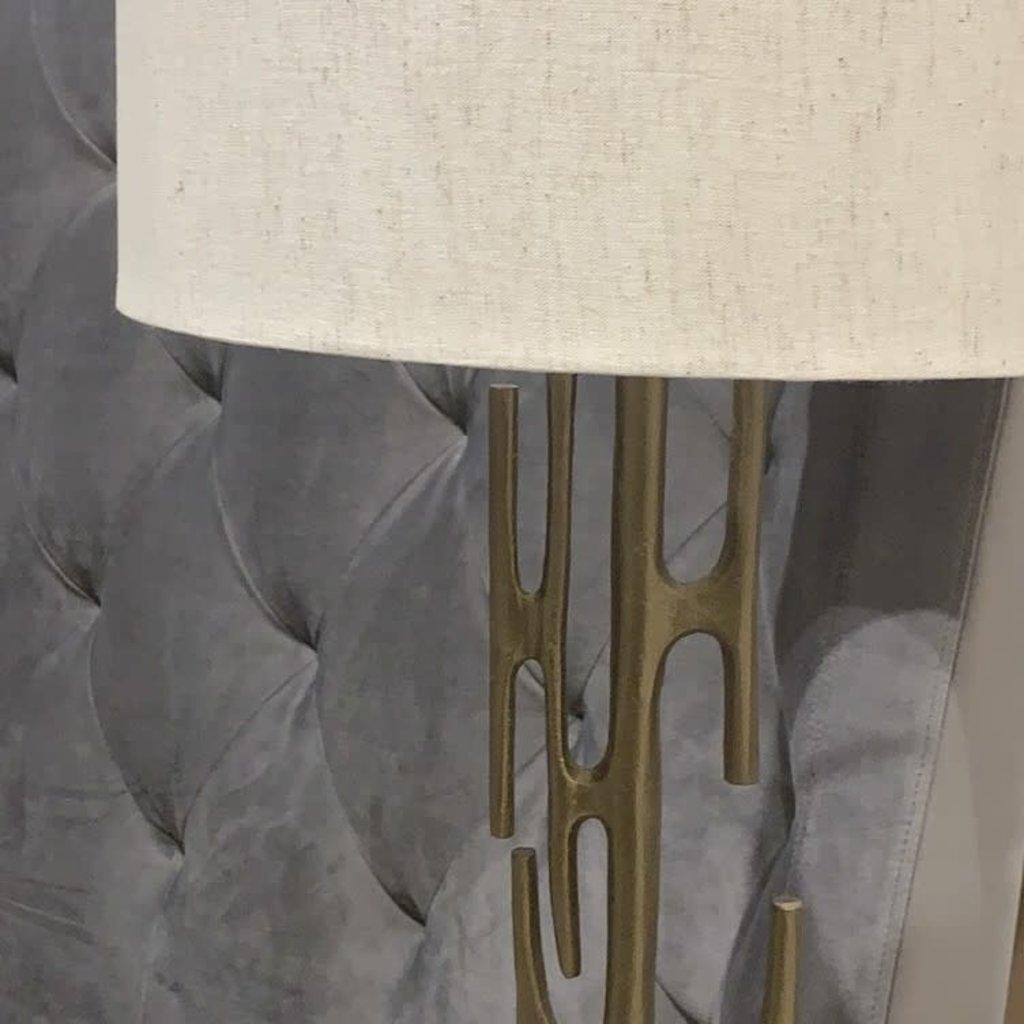 BRUTALIST BURNISHED METAL TABLE LAMP