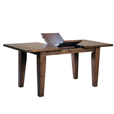 """COAST EXTENSION DINING TABLE SMALL 47"""" TO 62"""" BROWN"""