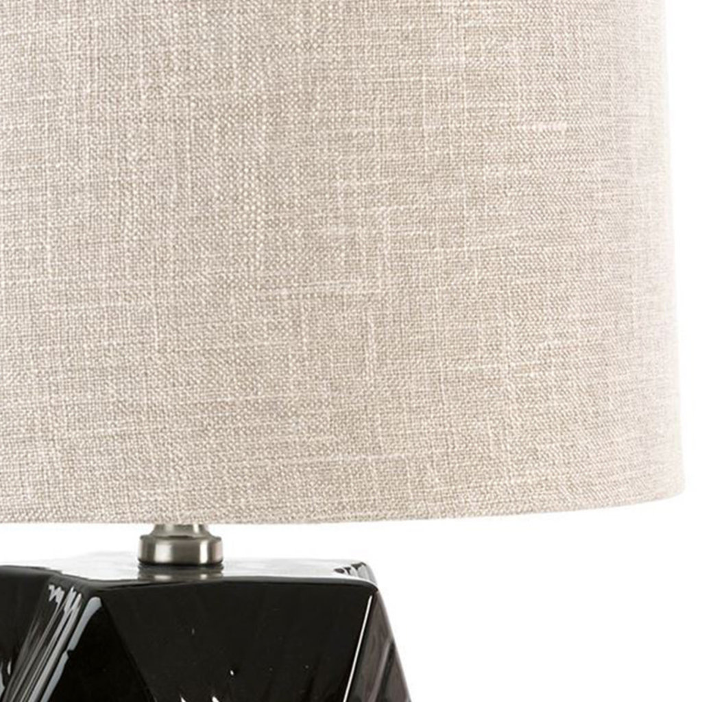 BLACK DIAMOND TABLE LAMP CERAMIC