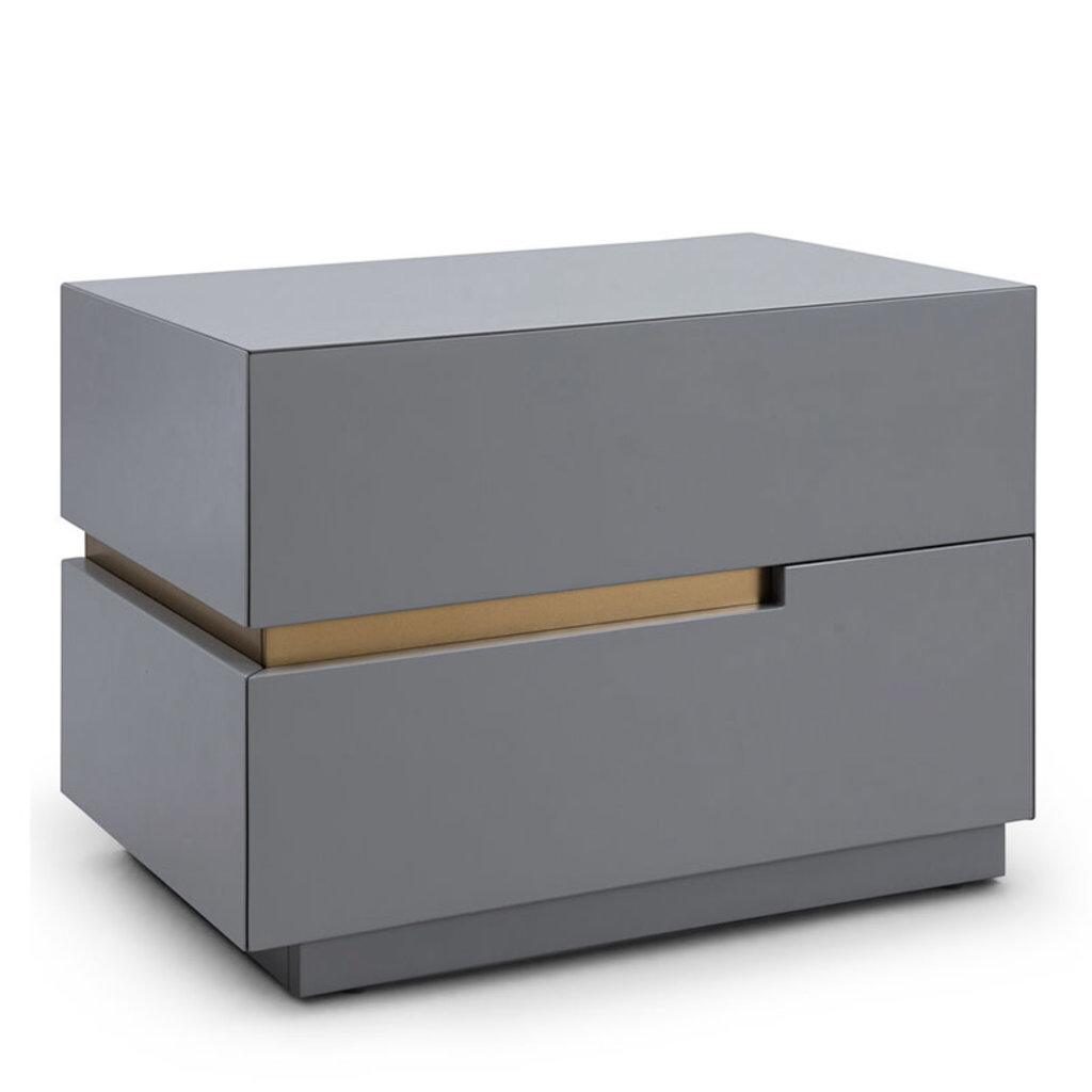 LILLIAN NIGHTSTAND GREY AND GOLD LEFT