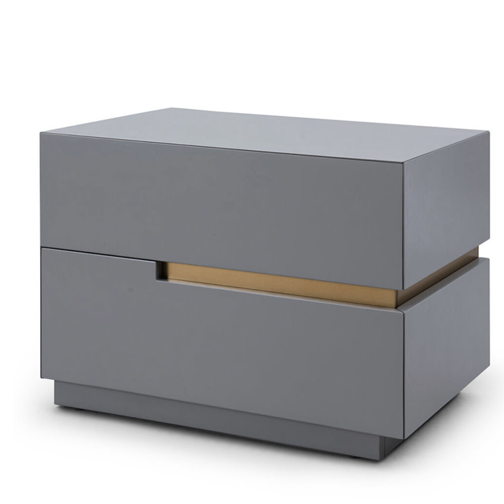 LILLIAN NIGHTSTAND GREY AND GOLD RIGHT