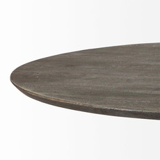"""GILES DINING TABLE ROUND 54"""" WOOD DARK BROWN"""