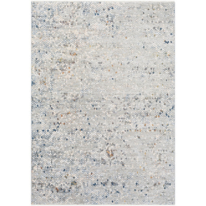 """PRESS PENNY TILE  5' X 8'2"""" GREY TAUPE BLUE RUST"""