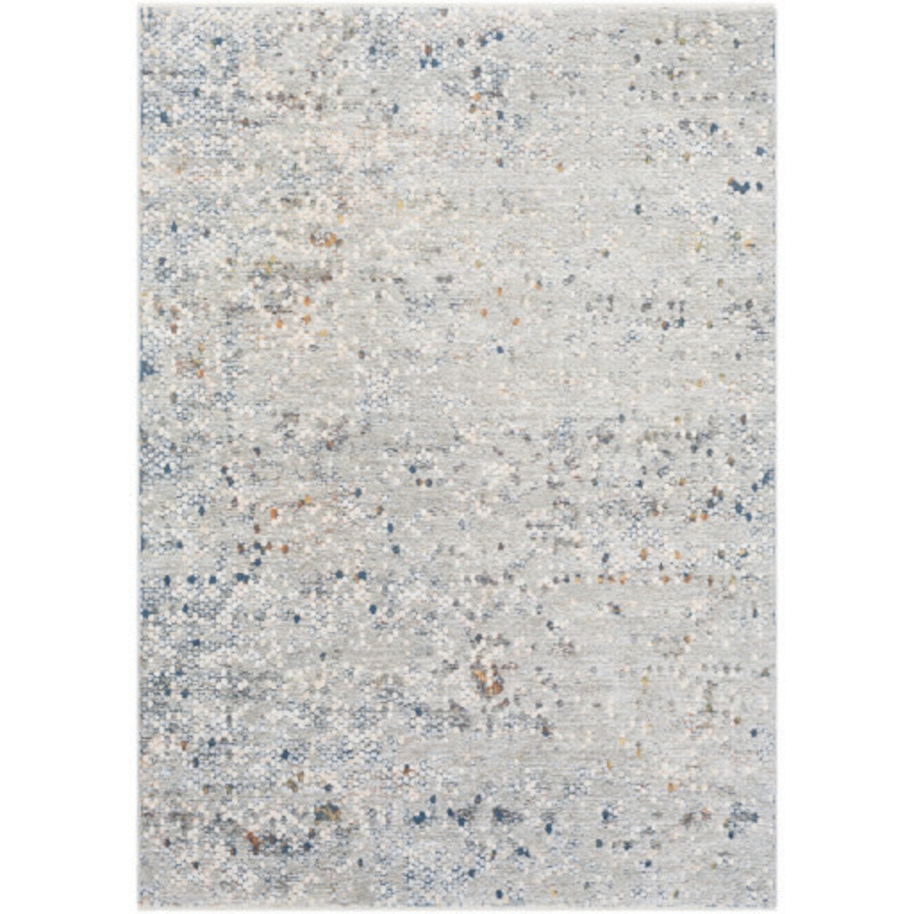 """PRESS PENNY TILE  9' X 13'1"""" GREY TAUPE BROWN BLUE RUST"""
