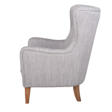 CHESTER HIGH-BACK ARM CHAIR GREY