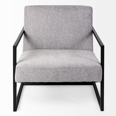 DIKEMBE ARM CHAIR GREY AND BLACK