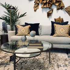MANON COFFEE TABLE ROUND GLASS