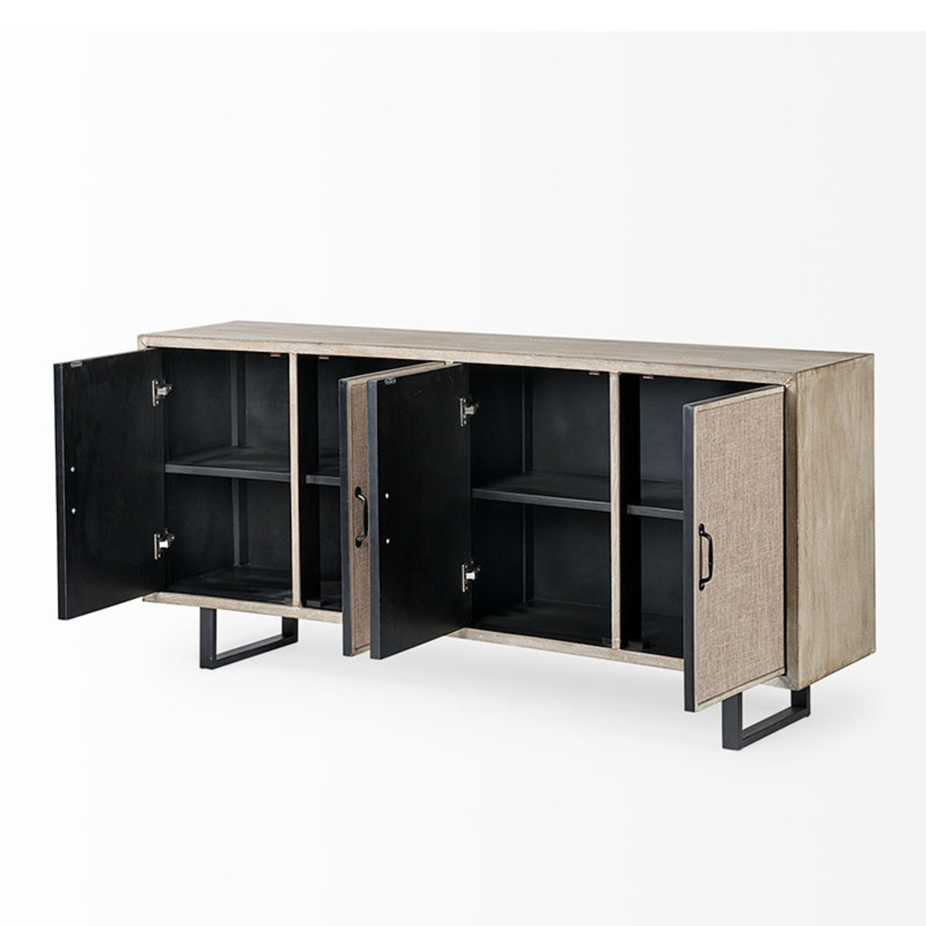 WYCLIFFE SIDEBOARD CURVED FRONT