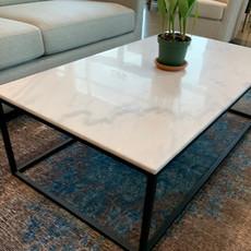 AMADA MARBLE COFFEE TABLE RECTANGLE WHITE