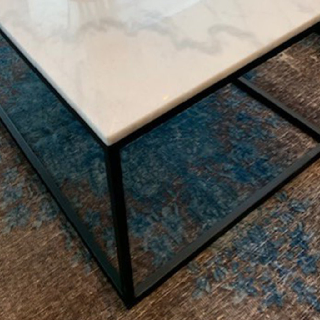 AMADA MARBLE SIDE TABLE SQUARE WHITE