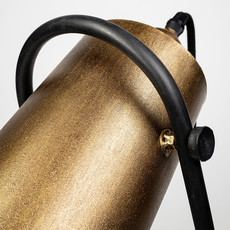 CYCLOPS TABLE LAMP FLAT GOLD AND BLACK