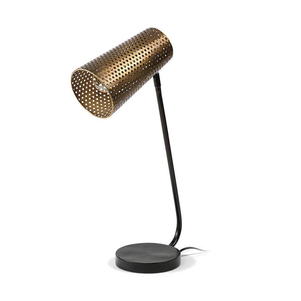 CARRAWAY TABLE LAMP BURNISHED METAL